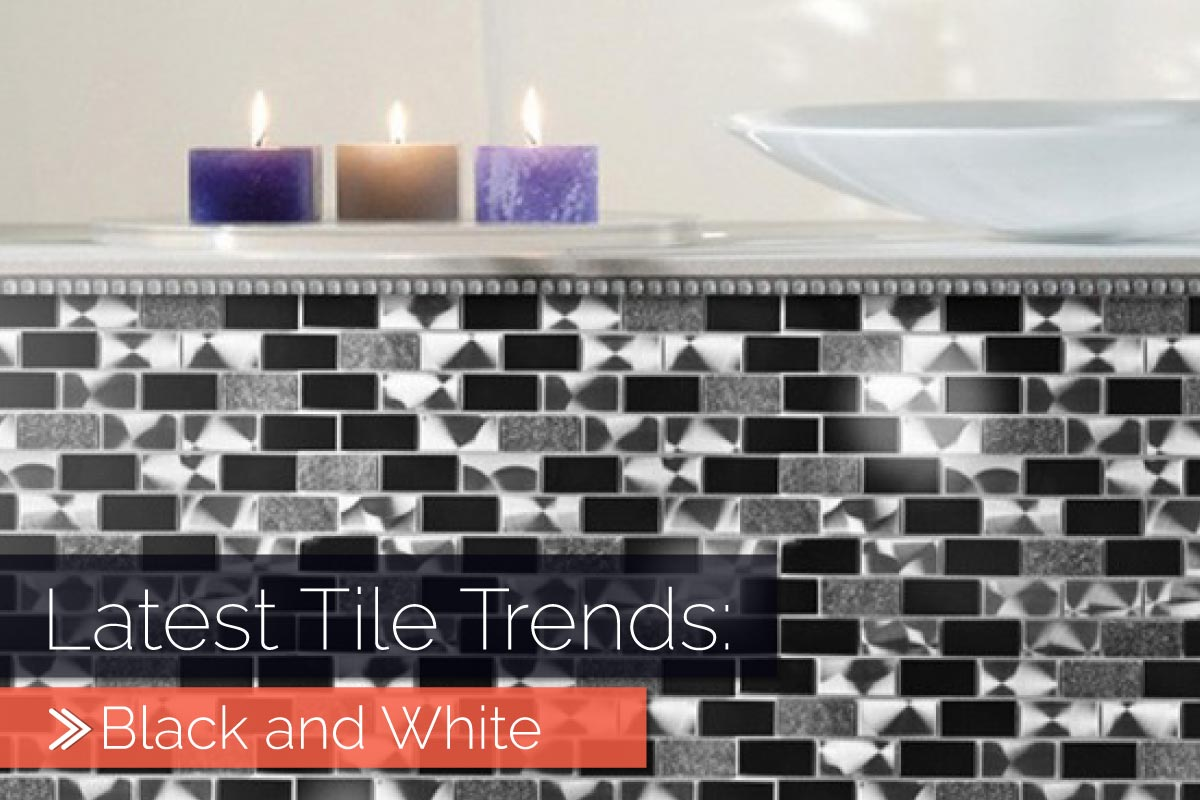 latest tile trends black and white why not tiles