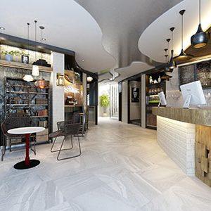 Horizon Smoke Lappato Internal Floor Tile 600x600mm