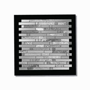 Lisbon Stainless Steel Feature Tile 298x298mm