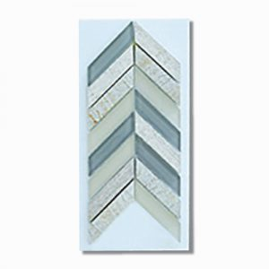Chevron Cream Wall Feature Tile 280x285mm