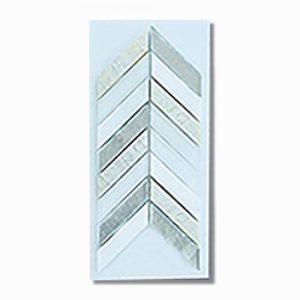 Chevron White Wall Feature Tile 280x285mm