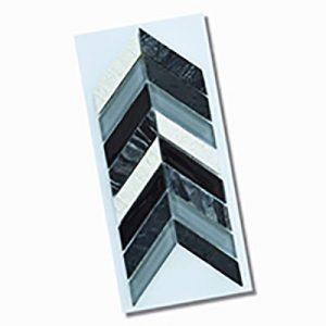 Chevron Black Wall Feature Tile 280x285mm