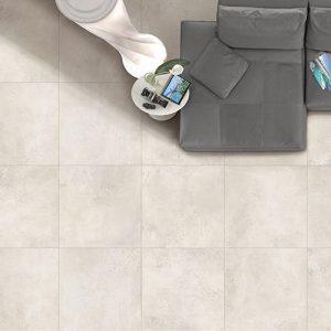 Kierrastone White Matt Floor Tile 600x600mm