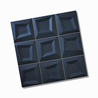 Frame Black Feature Tile 333x333mm