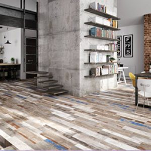 Shaby Multi Timber Look Floor Tile 205x615mm