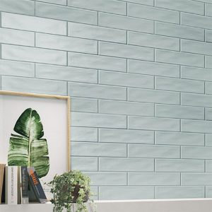 Pasha Steel Blue Gloss Wall Tile 75x300mm