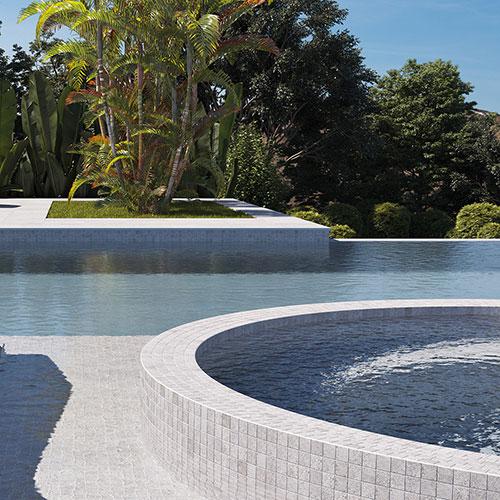 Sand Rock Zement Pool Mosaic Tile 25x25mm