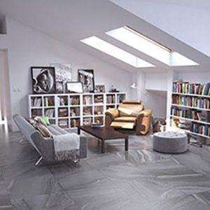 Horizon Ash Lappato Floor Tile 600x600mm