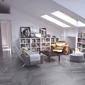 Horizon Ash Lappato Internal Floor Tile 600x600mm