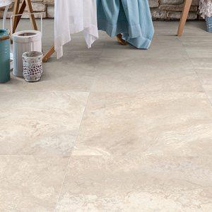 Travertine Beige Satin Internal Floor Tile 600x600mm