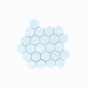 Carrara Hex Mosaic Tile 305x305mm