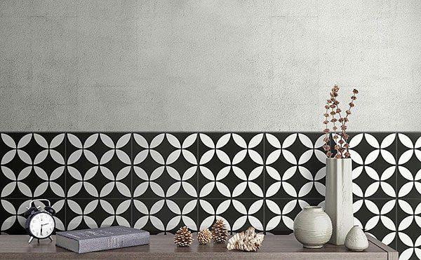 Picasso Star Black Intenal Floor Tile 200x200mm