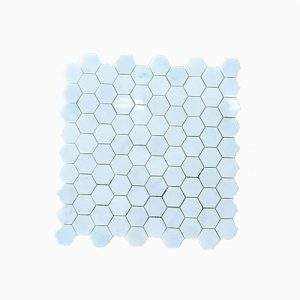 Imperial White Hexagon Feature Tile