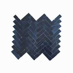 Nero Marquina Herringbone Feature Tile