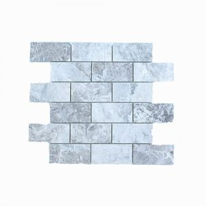 Tundra Grey Marble Subway Feature Tile