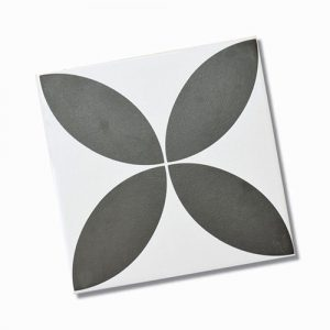 Picasso Flora Black Internal Floor Tile 200x200mm