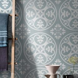 Picasso Norway Blue Floor Tile 200x200mm