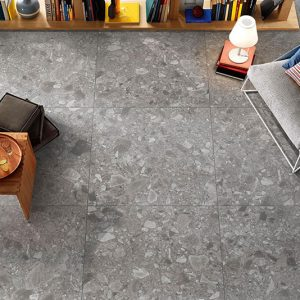 Terrazzo Stone Matt Internal Floor Tile 600x600mm