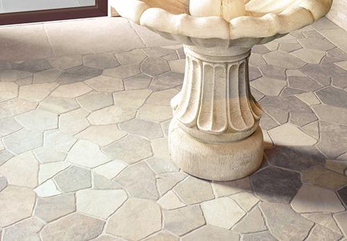 Sella White Interlock External Floor Tile 442x664mm