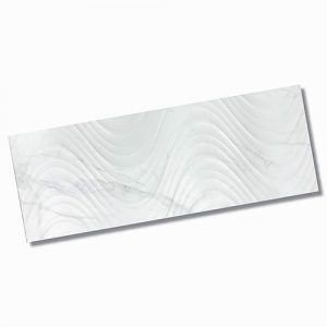 Carrara Wave Matt Wall Tile 300x800mm