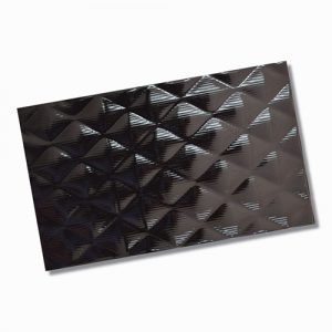 Curl Black Wall Tile 250x400mm