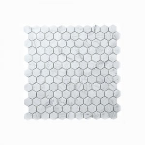 Carrara Hexagon 25mm Mosaic Feature Tile