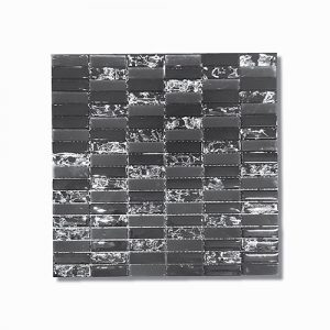 Crushed Black Ice Mosaic Feature Tile 300x300mm
