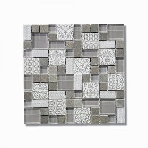 Hertiage Gris Mosaic Feature Tile 300x300mm