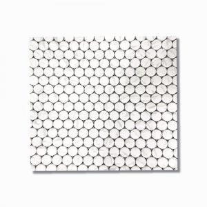 Carrara Penny Round Mosaic Tile
