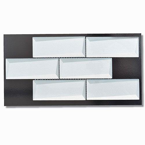 Optic Silver Brick Mosaic 50x150mm