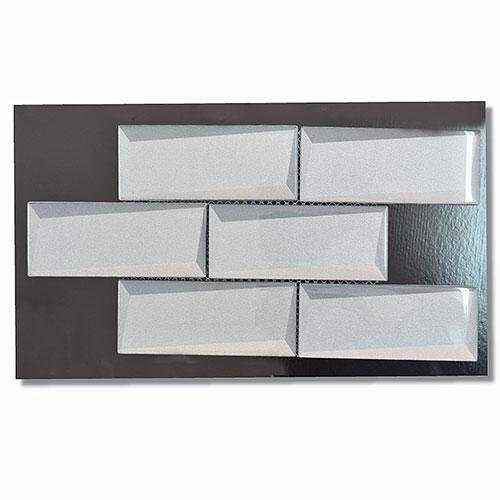 Optic Taupe Brick Mosaic 50x150mm