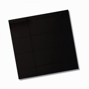 Lux Absolute Black Polished Floor Tile 600x600mm