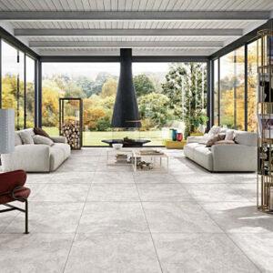 New Travertine Ivory Matt Floor Tile 600x600mm