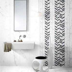 Snow 12 Decor Leaf Mix Carrara Wall Tile 300x800mm