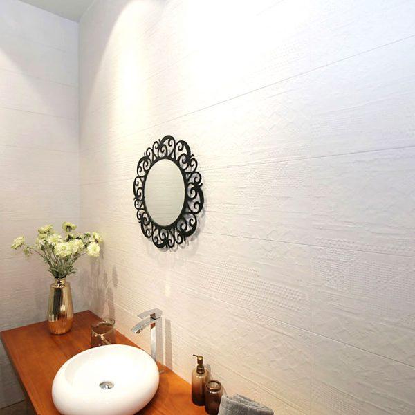 White Render Wall Tile 270x730mm
