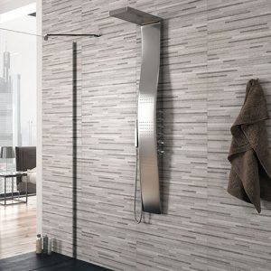 Stratos Grey Matt Wall Tile 330x660mm
