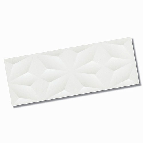 Textured White Matt Wall TIle 270x730mm