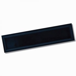 Edge Frame Dark Blue Gloss Wall Tile 68x280mm