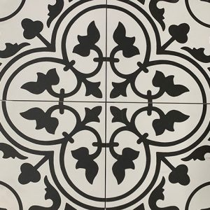 Reverie Black & White Floor Tile 200x200mm