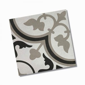 Reverie Black, White & Taupe Floor Tile 200x200mm