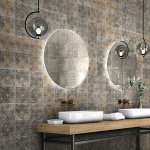 Antigua Lis Black Wall Tile 333x333mm