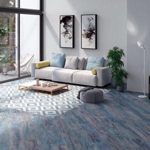 Cassis Blue Matt Floor Tile 218x904mm