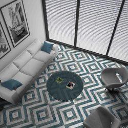 Sete Blue Matt Floor Tile 250x250mm