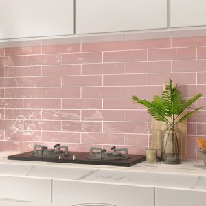 Edge Wave Pink Wall Tile 68x280mm