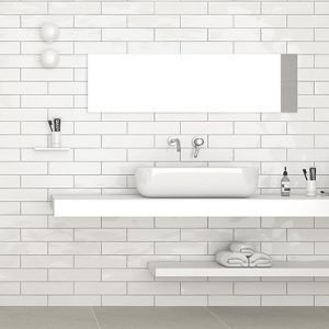 Edge White Wave Gloss Wall Tile 68x280mm