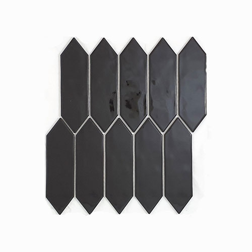 Huxley Black Gloss Wall Tile 55x195mm