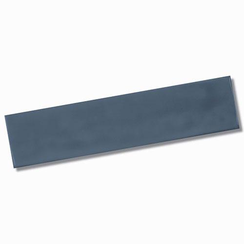 Pasha Dark Blue Gloss Wall Tile 75x300mm