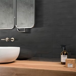 Pasha Gunmetal Grey Gloss Wall Tile 75x300mm