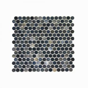 Penny Round Black Mix Mosaic Tile 315x294mm