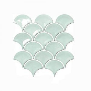 Fish Scale Foam Light Green Feature Tile 259x273mm